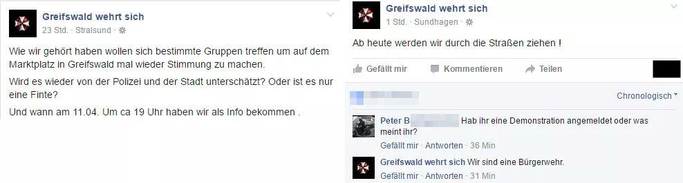 """Screenshot: """"Greifswald wehrt sich"""""""