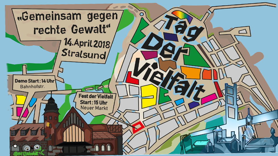 - update! - 14. April: Tag der Vielfalt - gemeinsam gegen rechte Gewalt in Stralsund